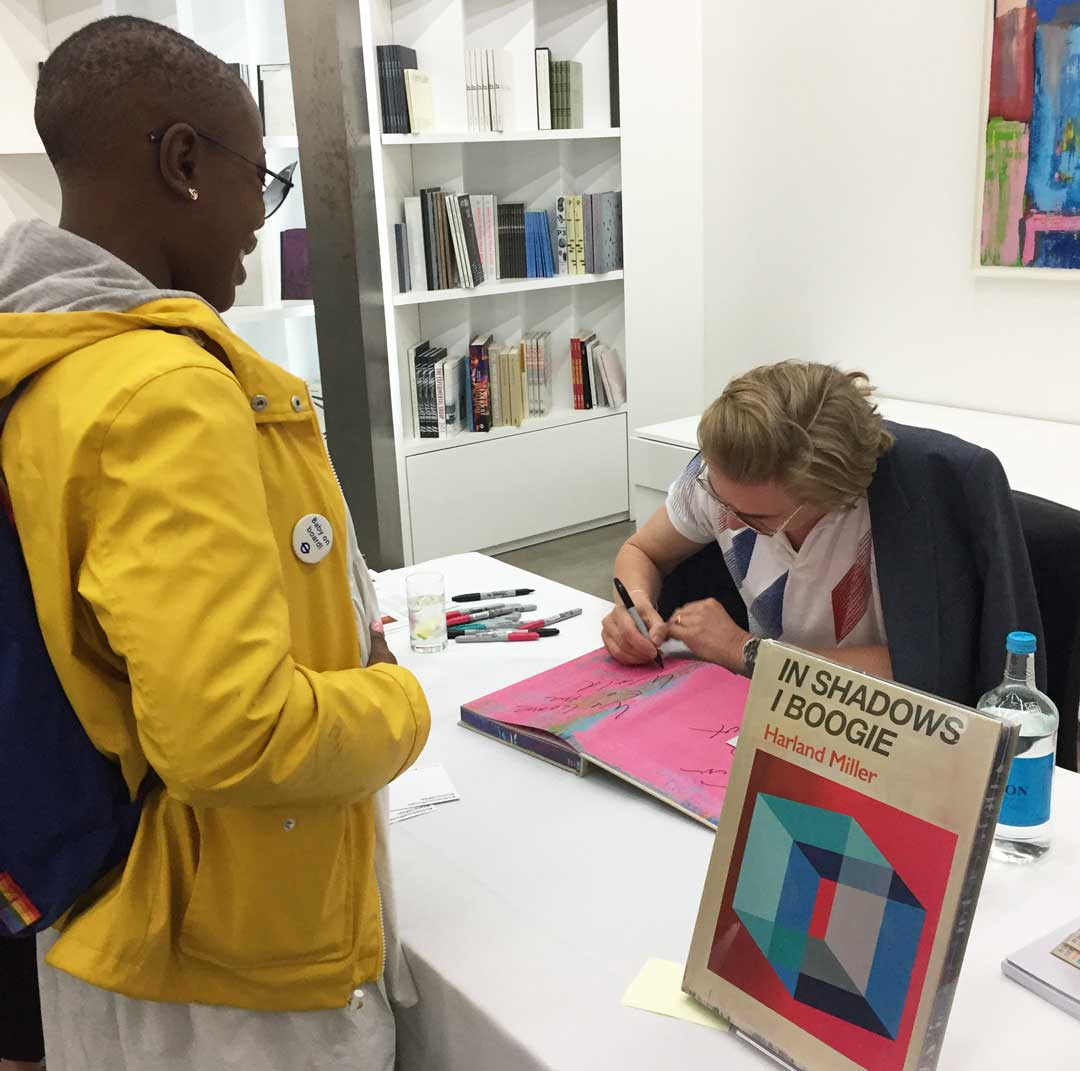 Harland Miller signing at White Cube