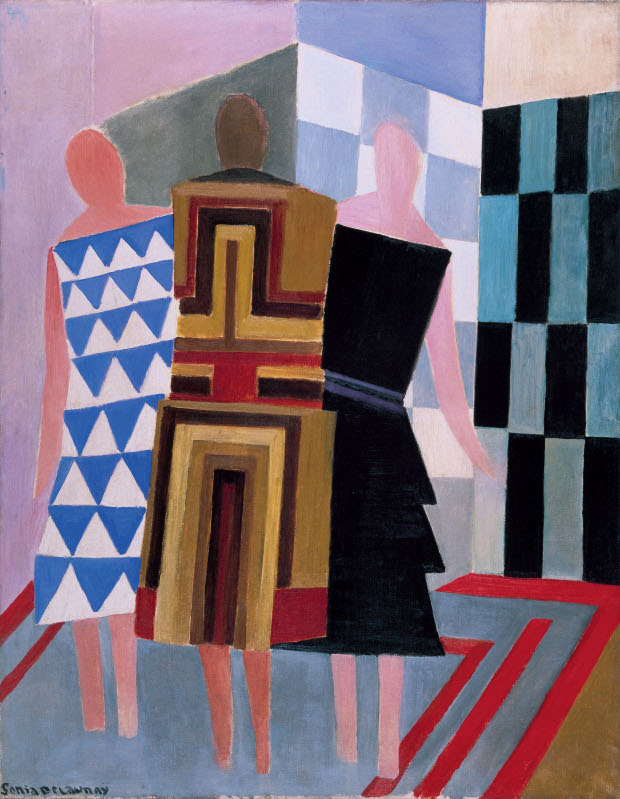 Simultaneous Dresses (Three Women, Forms, Colours) (1925) by Sonia Delaunay