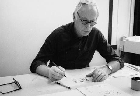 Dieter Rams at work in his studio in Kronberg near Frankfurt, Germany