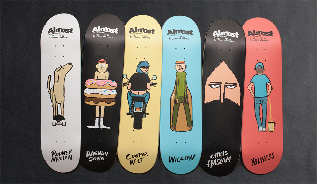 Jean Jullien creates a skateboard line for Almost