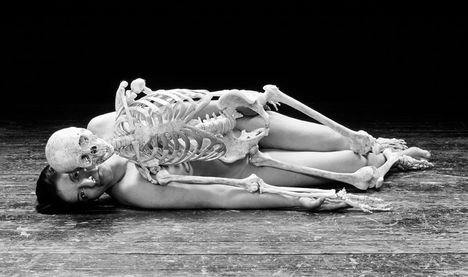 Marina Abramović, Nude with a Skeleton (1996)