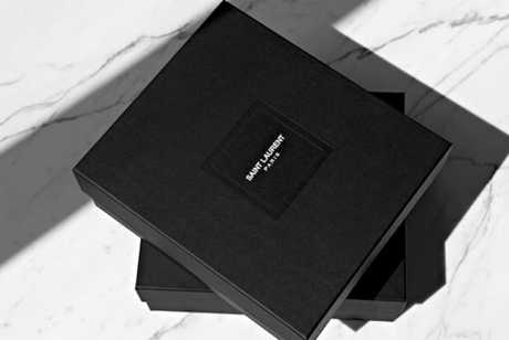 The new logo for Saint Laurent Paris