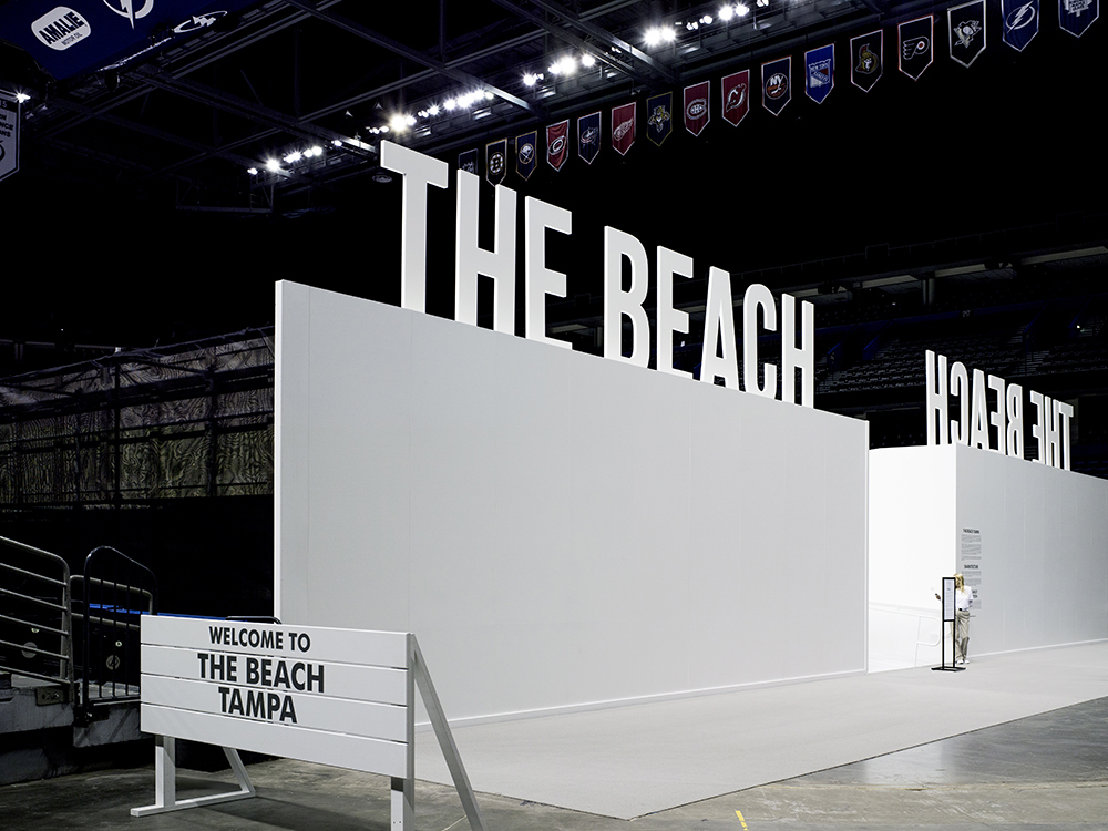 The Beach by Snarkitecture in Tampa, 2016. Photo by Noah Kalina. Image courtesy of Snarkitecture