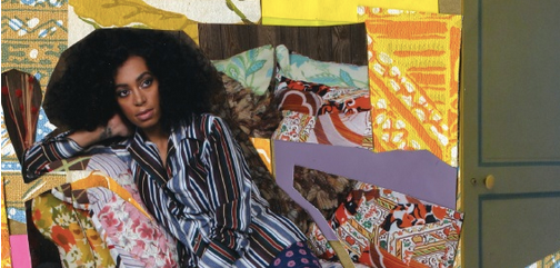 Detail from Solange Knowle's True Cover by Mickalene Thomas