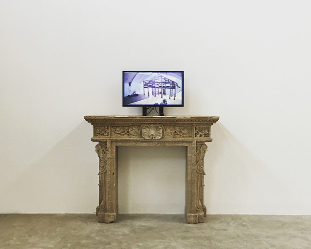 A video installation, showing the temple, at Weiwei's new show. Image courtesy of Ai Weiwei's Instagram
