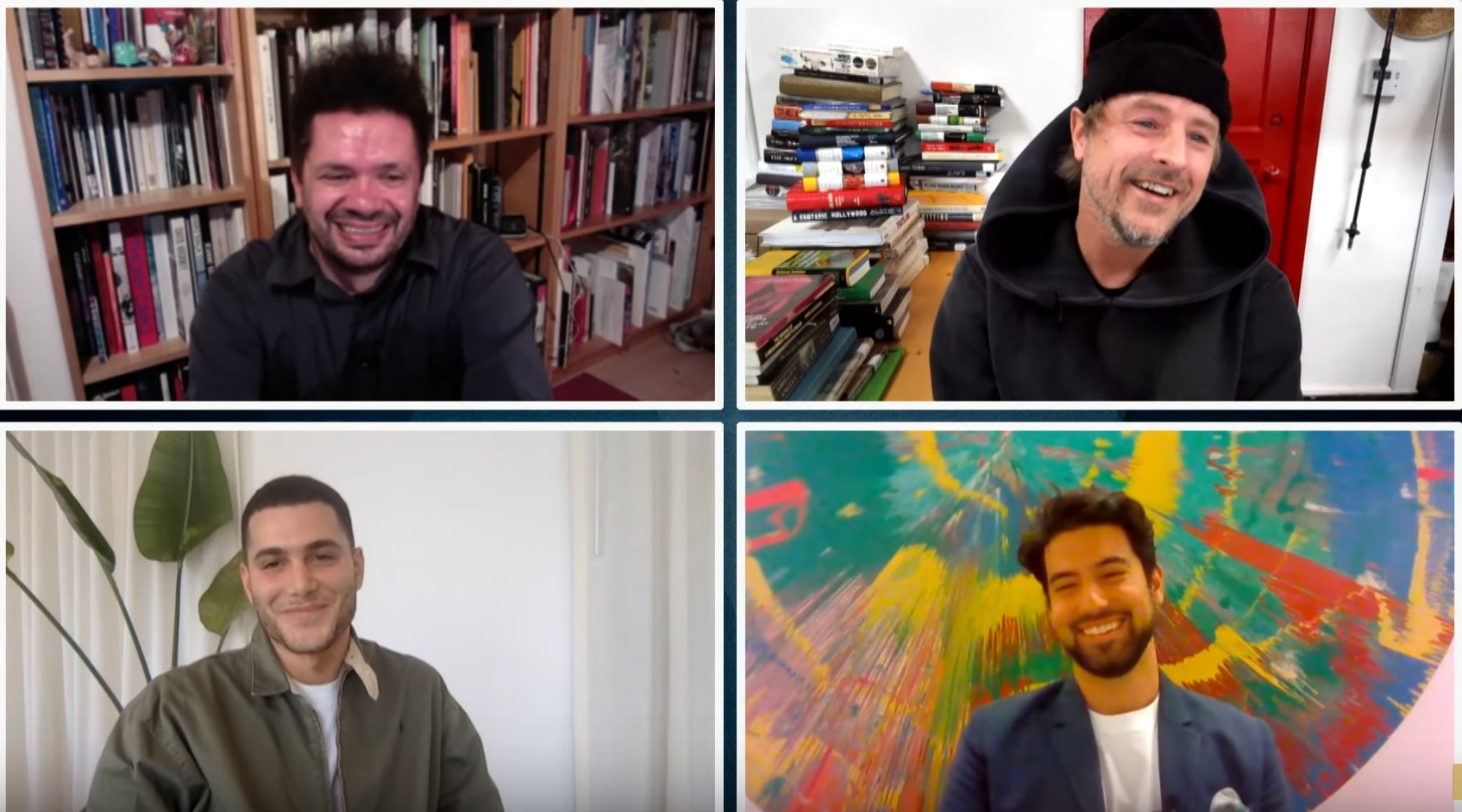 Clockwise from top left: Michele Robecchi, Sterling Ruby, Ashkan Baghestani and Fai Khadra