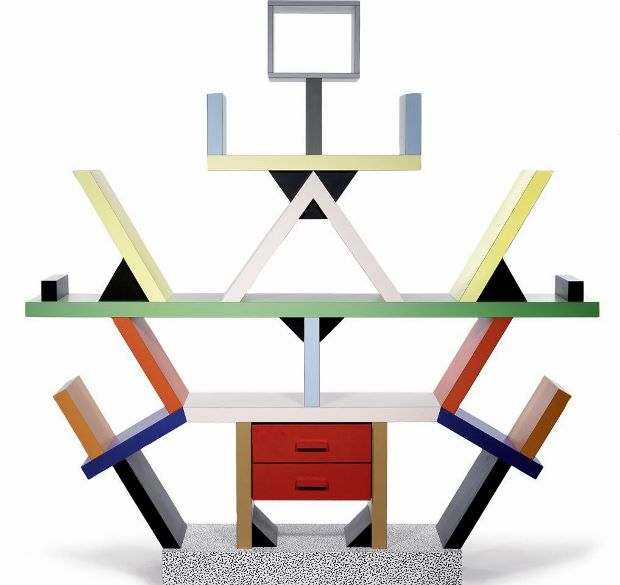 the Carlton bookcase by Ettore Sottsass