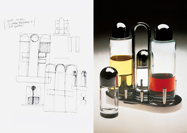 Studies for 5070 Condiment set for Alessi, 1974