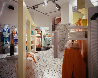 Esprit showroom, Cologne, 1986, by Ettore Sottsass