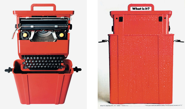 The Valentine typewriter by Etorre Sottsass