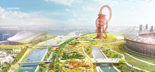 James Corner's plans for the Olympic Park