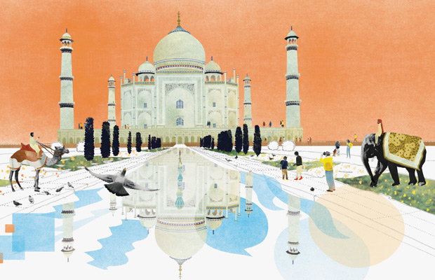 The Taj Mahal from Architecture According to Pigeons, by Natsko Seki