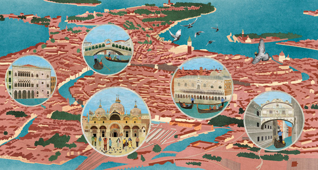 Venice from Architecture According to Pigeons, by Natsko Seki
