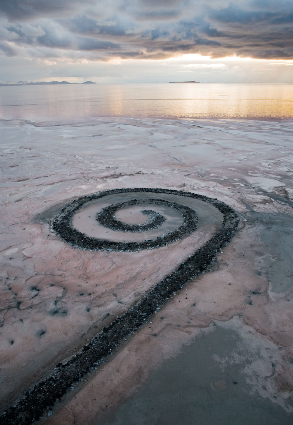 Spiral Jetty (1970) by Robert Smithson. As featured in Art & Place and Destination Art
