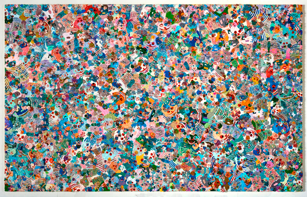 Spring Poppy Fields No.9, 2012 oil on linen - Zhang Huan