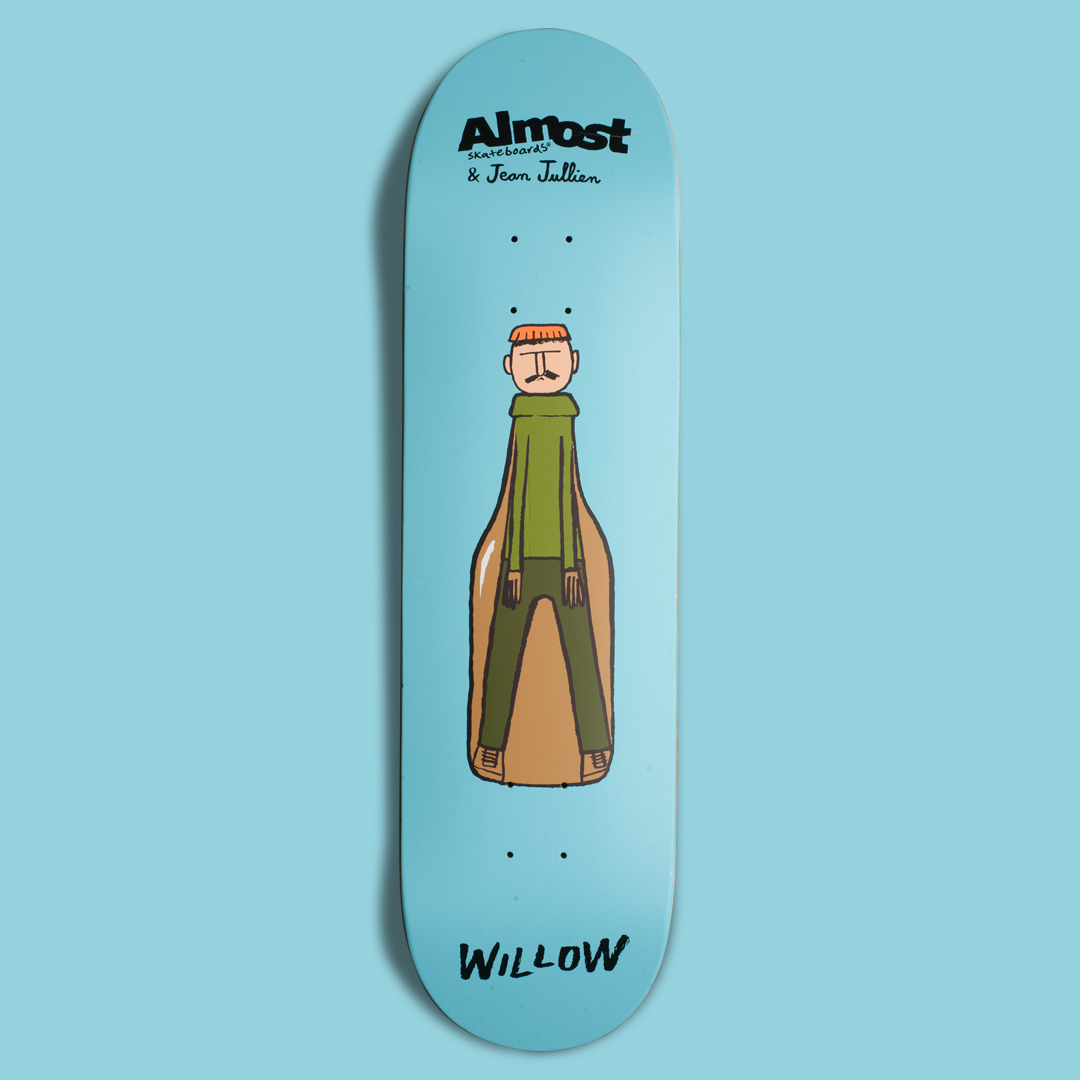 One of Jean Jullien's Almost skateboard decks
