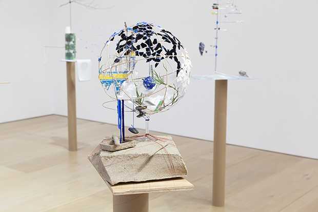 Sarah Sze, installation view, Model Series, 2015; 30 January – 14 March 2015; Victoria Miro Mayfair, 14 St Geroge Street, London, W1S 1FE. Courtesy the Artist and Victoria Miro, London © Sarah Sze