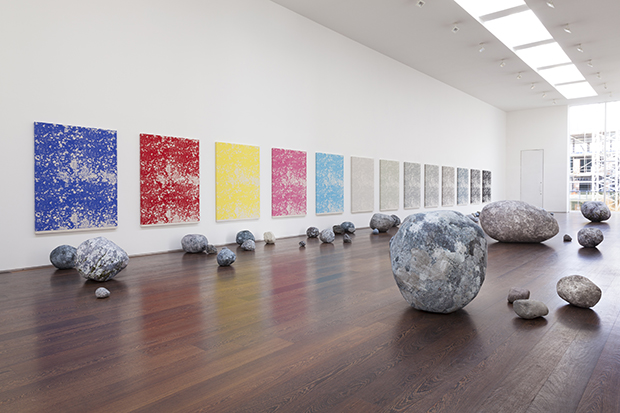 Sarah Sze, installation view, Stone Series, 2013-2015; 30 January – 28 March 2015; Victoria Miro, 16 Wharf Road, London, N1 7RW. Courtesy the Artist and Victoria Miro, London © Sarah Sze