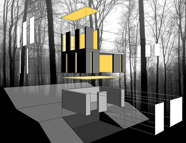 Stacked Cabin - Johnsen Schmaling Architects