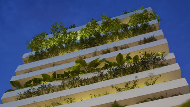 Vo Trong Nghia's multi-storey planters