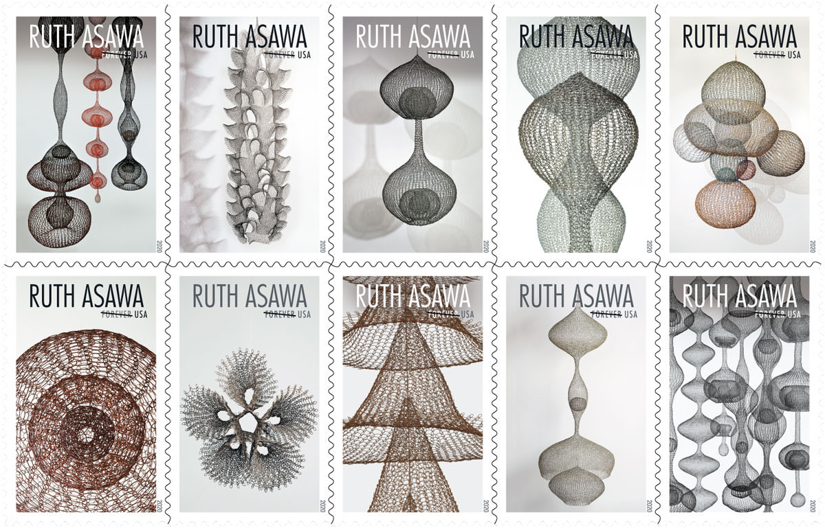 Great Woman Artist Ruth Asawa gets her own set of stamps