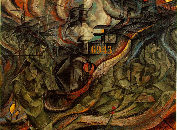 States of Mind I: The Farewells (1911) by Umberto Boccioni. As featured in Art in Time