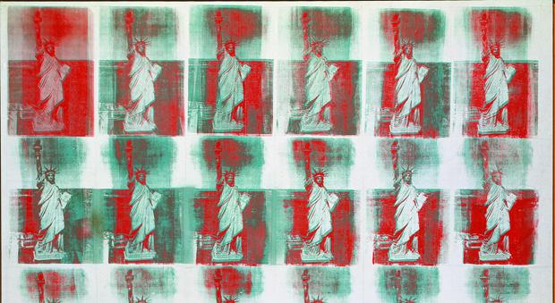 detail from Statue of Liberty (1962) by Andy Warhol