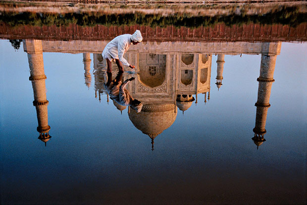 Reflection of the Taj Mahal - Steve McCurry from the book India