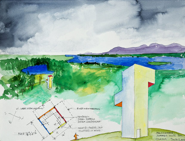Polychrome Summer House by Steven Holl. Image courtesy of Steven Holl Architects