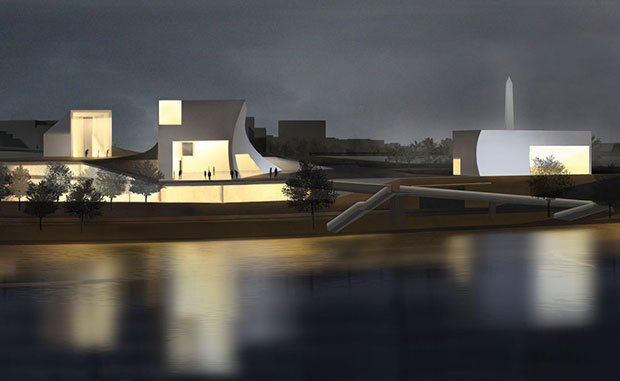 Expansion for the John F Kennedy Center for the Performing Arts in Washington DC - Steven Holl