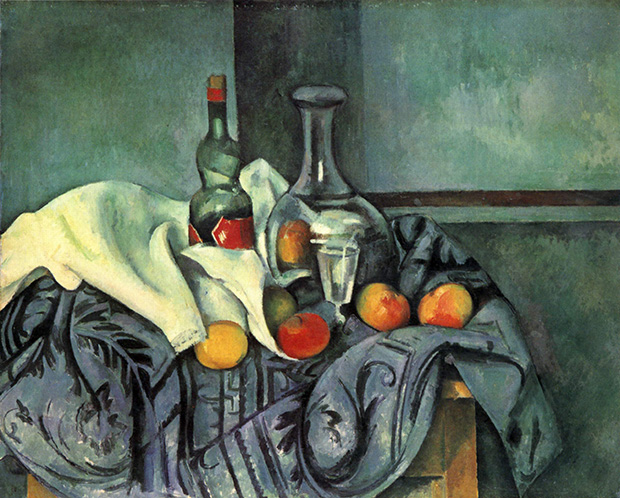 Still life, peppermint bottle (1895) by Paul Cézanne