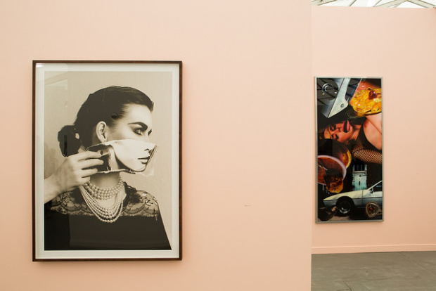 Stuart Shave/Modern Art's booth with pieces by Linder Sterling.  Image courtesy of Frieze