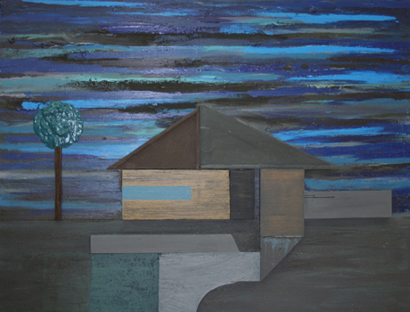 Suburban Night Painting - Chris Johanson