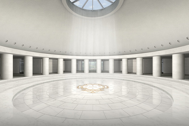 Renderings of Sufism Reoriented's new sanctuary, courtesy of Philip Johnson/Alan Ritchie.
