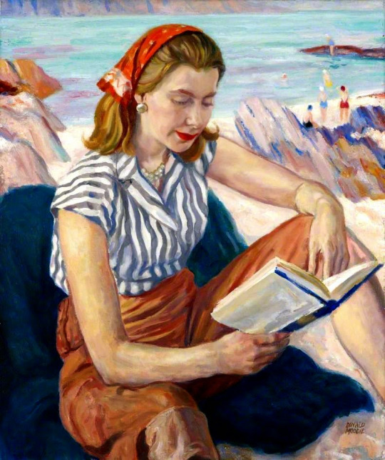 Summer (c. 1958) by Donald Moodie. All images from Reading Art