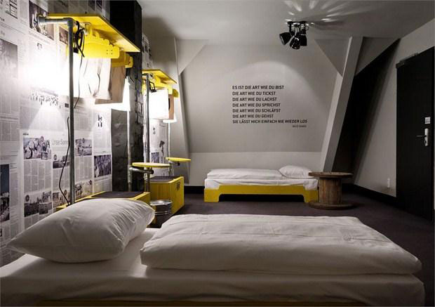 Hamburg sorting office reinvented as hip hotel for Hip office design