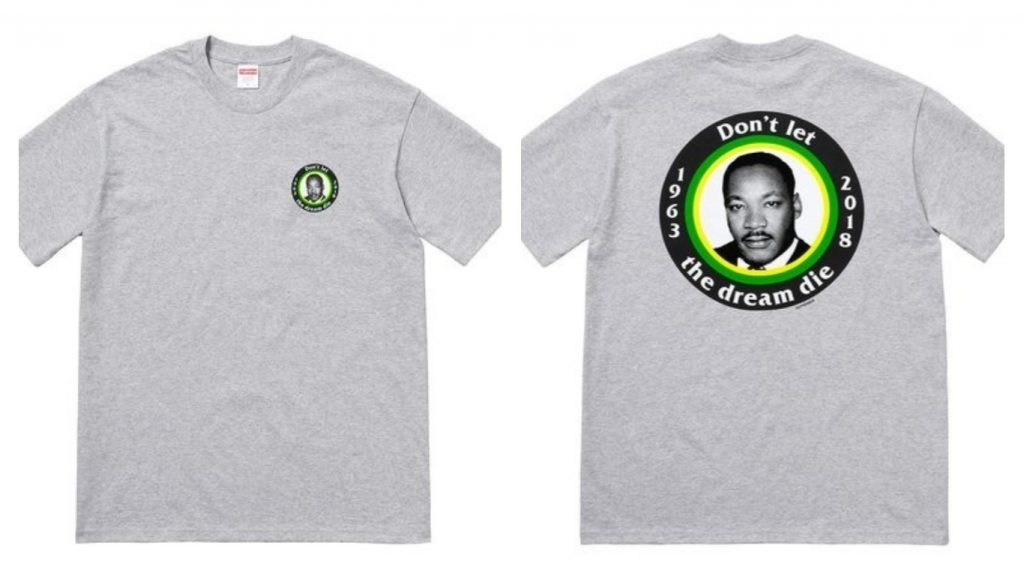 Supreme shares Martin Luther King's Dream