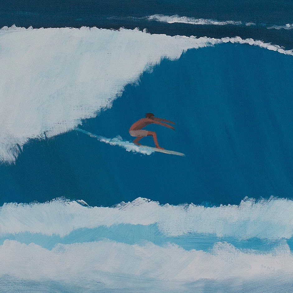 One of Jean Jullien's recent surfing images