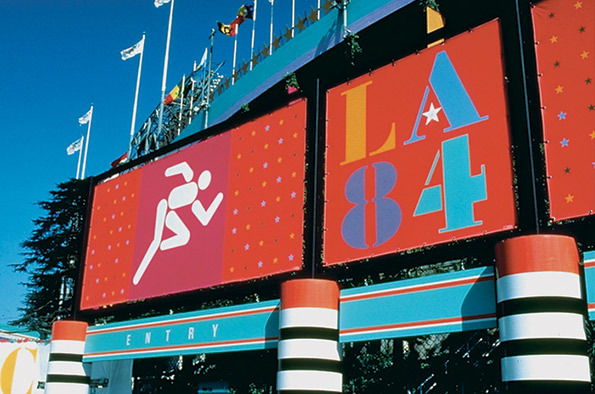 Deborah Sussman's signage for the 1984 Los Angeles Olympic Games