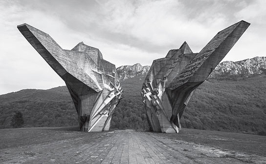 Battle of Sutjeska Memorial, Sutjeska National Park, Bosnia and Herzegovina, 1917 by Miodrag Živković, as reproduced in Atlas of Brutalist Architecture