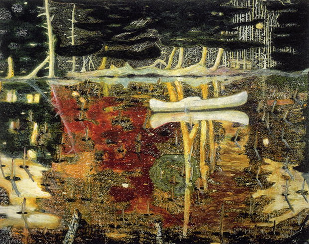 Swamped (1990) by Peter Doig