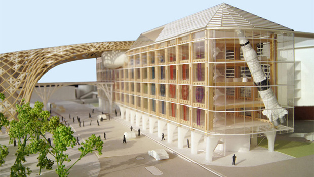 Wood Architecture: Shigeru Ban Turns To Wood For Swatch