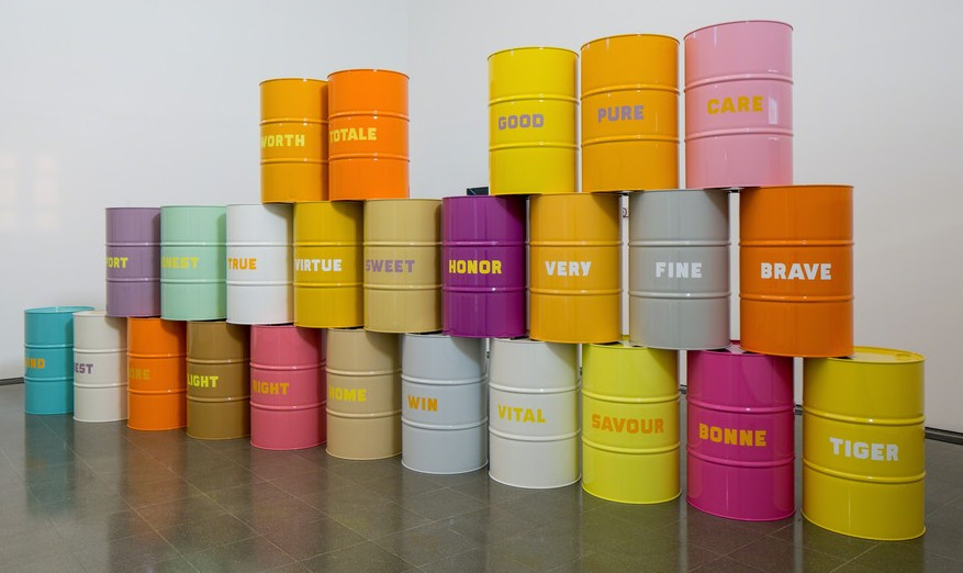 Sweet Light Crude (2008) by Jimmie Durham  - as featured in our Contemporary Artist Series book