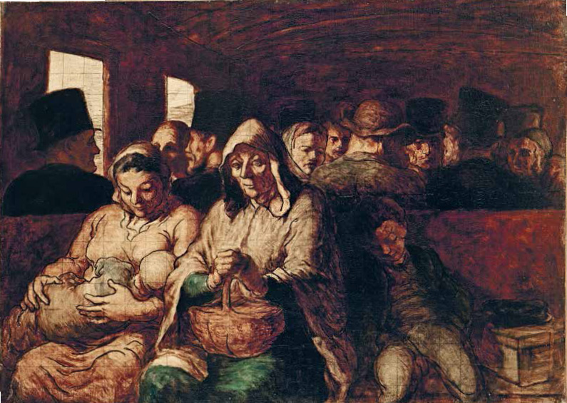 The Third-Class Carriage (c. 1862–64) by Honoré Daumier - as featured in The Artist Project What Artists See When They Look At Art