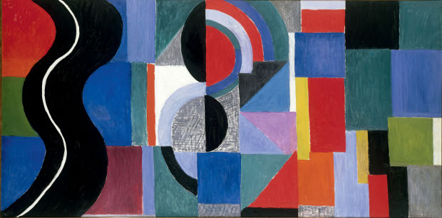 Syncopated rhythm, so-called The Black Snake (1967) by Sonia Delaunay. Musée des Beaux-Arts, Nantes, France