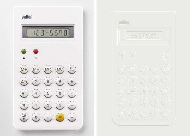 From left: Dieter Rams' ET66 Braun calculator; Studio Job's Systems poster