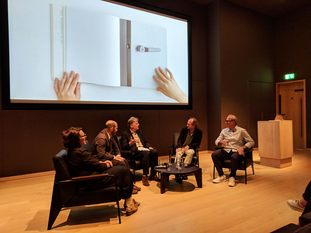 Kim Colin, Peter Kapos, Deyan Sudjic, Paul Neale and Sam Hecht at the Design Museum last night