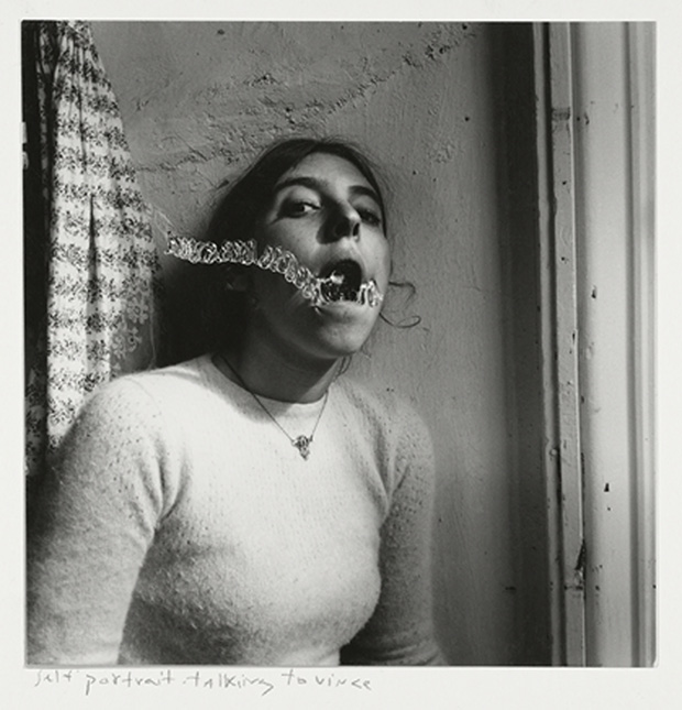 Self Portrait Talking to Vince Providence, Rhode Island, 1977, by Francesca Woodman. Copyright George and Betty Woodman. From On Being an Ange