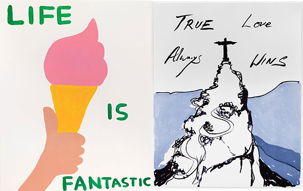 Tracey Emin and David Shrigley celebrate Rio 2016