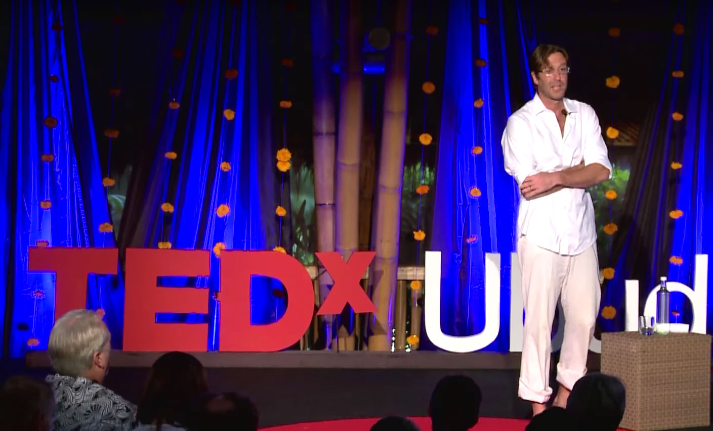 Will Goldfarb at Tedx Ubud, Bali